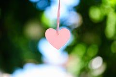 пинк сердца бумажный Стоковая Фотография RF