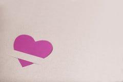 пинк сердца бумажный Стоковое Изображение RF