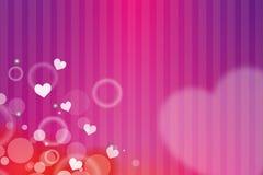 пинк сердца кроны карточки предпосылки флористический Стоковая Фотография RF