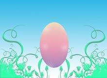 пинк травы пасхального яйца Стоковое Изображение