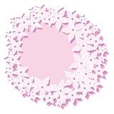 Пинк цветет рамка венка Стоковые Фото