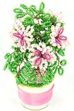пинк цветка beadwork Стоковые Фото