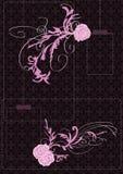 пинк цветка eps поднял Стоковые Изображения
