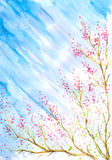 пинк 2 цветков иллюстрация штока