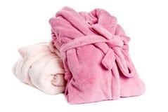 пинк bathrobes стоковое фото rf