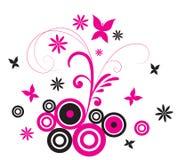 пинк flourish бабочки Стоковые Изображения