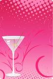 пинк martini halftone предпосылки стеклянный Стоковое фото RF