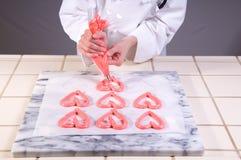 пинк meringue сердец Стоковое Фото