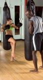 пинок гимнастики боксера Стоковое фото RF