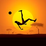 пинок чемпиона Африки иллюстрация штока