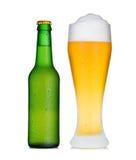 пинта стекла росы бутылки пива Стоковое Изображение RF