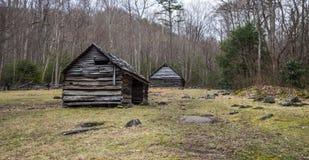 Пионерская ферма в большом национальном парке закоптелых гор Стоковая Фотография RF