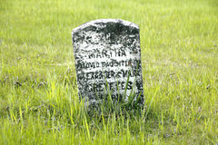 Пионерский могильный камень Стоковые Фотографии RF