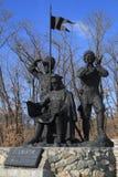 Пионеры казаков памятника Стоковое Фото