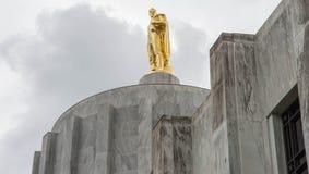 Пионер золота на капитолии положения Орегона стоковое фото rf