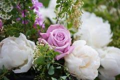 Пионы букета пиона, розовых и белых Стоковые Изображения RF