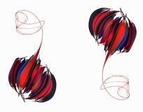 Пион абстрактного бутона розовый иллюстрация вектора