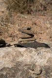 Пирамида из камней утеса песчаника стоковые изображения rf