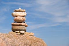 пирамида из камней Стоковое Изображение RF