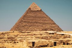 Пирамида на Гизе, Каире, Египте стоковое фото