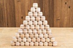 Пирамида от бочонков lotto Стоковая Фотография