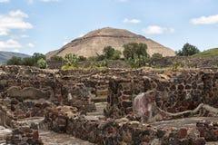 Пирамида Солнця Teotihuacan Мексики Стоковое Изображение