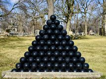 Пирамида шариков канона Стоковое Фото