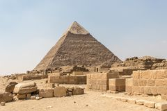 Пирамида Khafre второй по величине пирамид Гизы стоковое изображение
