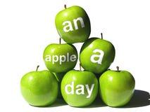 пирамидка дня яблока стоковые фотографии rf