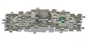 пирамидка доллара одного Стоковые Изображения