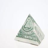 пирамидка доллара Стоковые Фото
