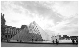 Пирамидка музея Париж жалюзи Стоковые Изображения