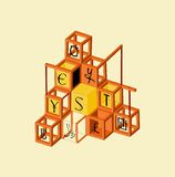 пирамидка babel финансовохозяйственная Стоковые Фотографии RF