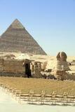 Пирамидки Гиза Египет сфинкса Стоковое Изображение RF