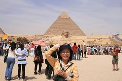 Пирамидки Гизы Стоковая Фотография RF