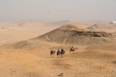 пирамидки Египета пустыни Стоковая Фотография