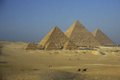 ПИРАМИДЫ АФРИКИ ЕГИПТА КАИРА ГИЗЫ Стоковые Фотографии RF