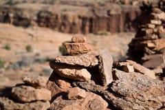 пирамиды из камней i Стоковые Изображения RF