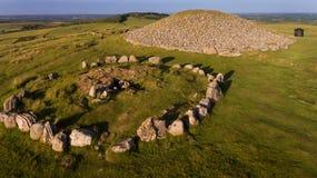 Пирамиды из камней Loughcrew графство Meath Ирландия стоковая фотография rf