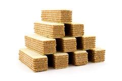 Пирамида вафель Стоковые Изображения