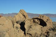 Пирамида в горной породе Стоковое фото RF