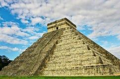 Пирамида в Chichen Itza, Юкатане, Мексике Стоковое фото RF