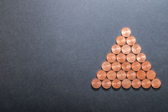 Пирамида евро Стоковые Фото