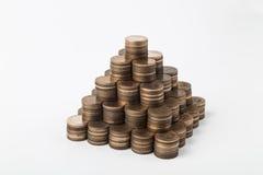 Пирамида денег Стоковое Изображение
