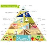 Пирамида еды Стоковые Изображения