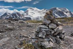 Пирамида из камней на пропуске Wilcox Стоковая Фотография RF