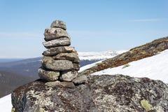 пирамида из камней Стоковая Фотография