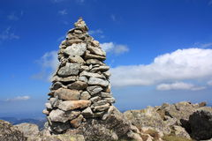 пирамида из камней pyrenees Стоковое Изображение RF