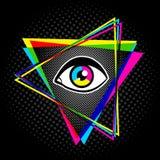 Пирамида и глаз иллюстрация вектора
