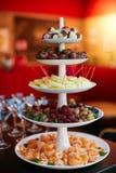 Пирамида свежих фруктов Стоковое Фото